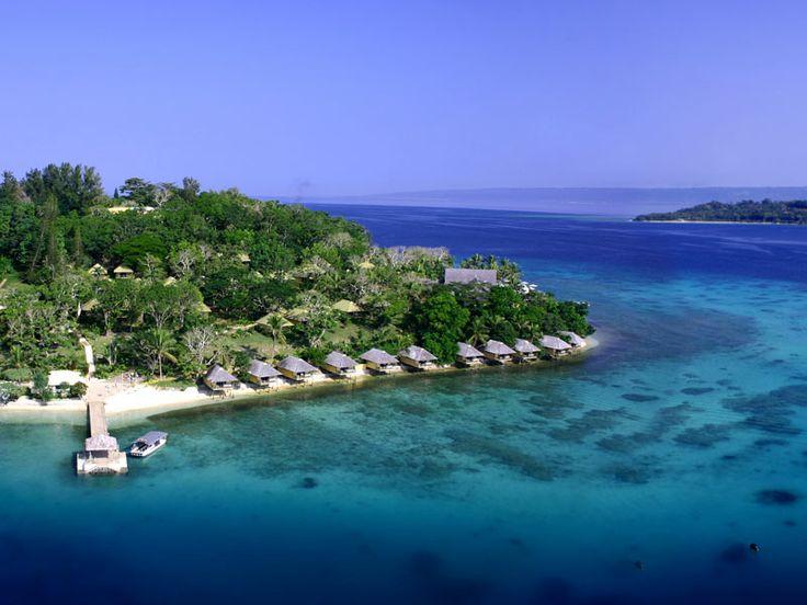 Tropical island escape. Iririki Island Resort, Vanuatu  www.islandescapes.com.au