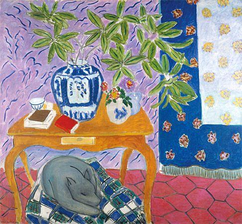 Henri Matisse. Interior with Dog (1934). The Baltimore Museum of Art: