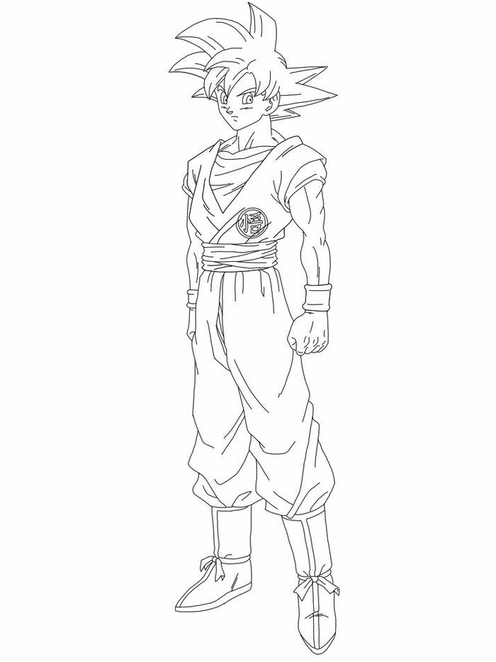 Ultra Instinct Goku Coloring Pages in 2020 | Super ...