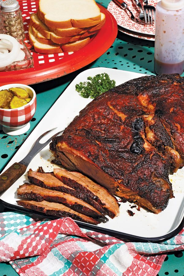 Heavenly Smoked Brisket - Our Best October 2016 Recipes - Southernliving. Recipe:Heavenly Smoked Brisket Brisket is the legendary low-and-slow-cooked cut of the Lone Star State, but its fame extends far beyond Texas borders. This recipe came to us from a reader in Alexandria, Louisiana. Hickory-smoked with a bold brown sugar-Cajun spice rub, it topped our annual list of favorites in 1995. There's no barbecue sauce. None needed. The heavenly flavor of the brisket speaks for itself.