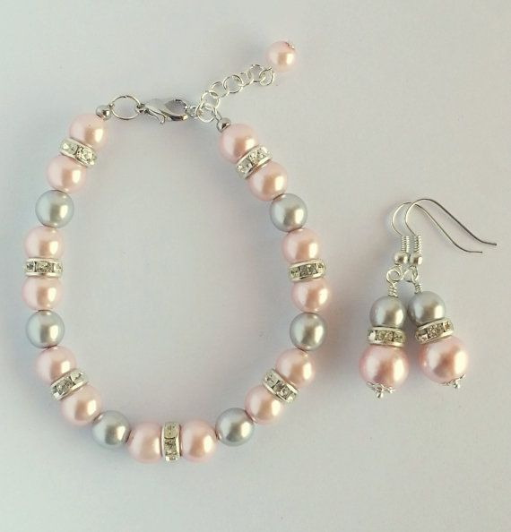 Bridal Jewelry Pearl Wedding Set Pearl by Michelleshandcrafted, £20.00