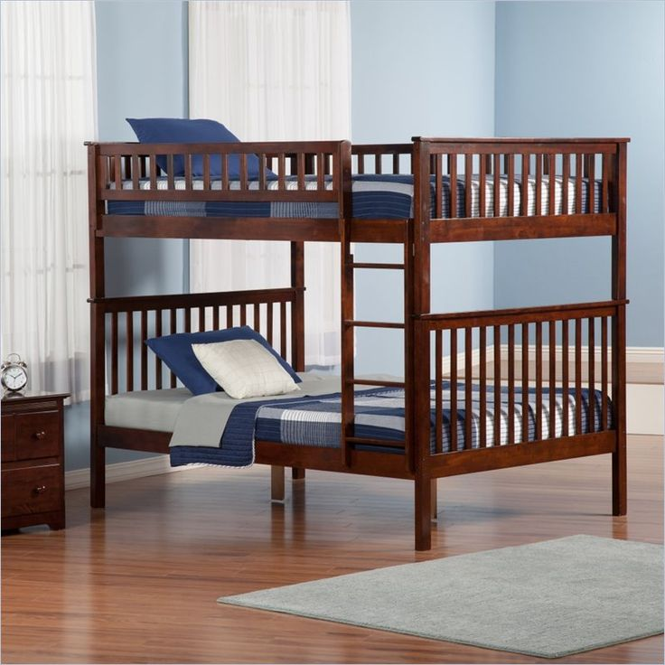Atlantic Furniture Woodland Bunkbed In Antique Walnut