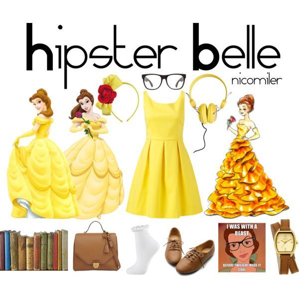 "Hipster Belle Costume | Hipster Belle I"" by nicomiler on Polyvore"