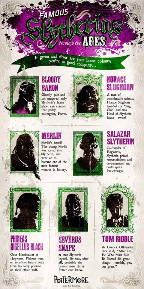 Famous Slytherins through the ages   Harry Potter   from Pottermore