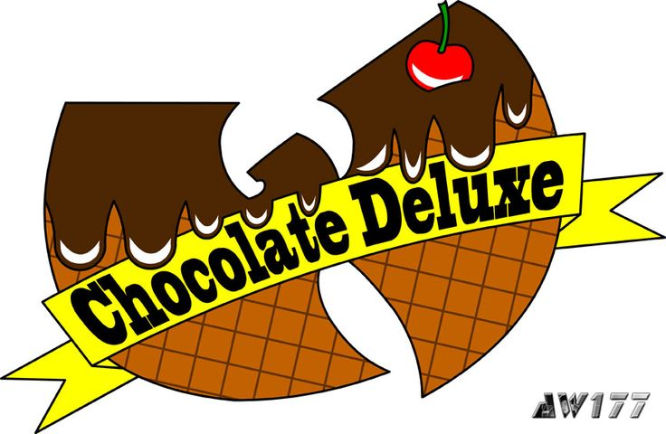 """""""Chocolate Deluxe"""" - a redesign of the infamous ice cream logo from the song, """"Ice Cream"""" for hip-hop star, Ghostface Killah. It was a great honor and pleasure for me when I was asked to redesign the ice cream logos for Ghostface Killah, a member of the Wu. If you have not heard the song before, go to YouTube and search """"Wu-Tang Ice Cream"""".  The logos are printed onto t-shirts for women and sold on GFK's official merchandise store."""