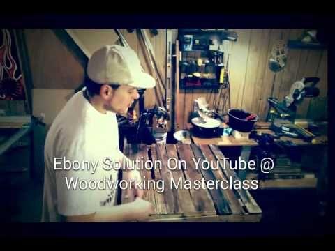 V6- Pallet Dance Crate Finished & Ebonized - YouTube...  Get your learn on!  KC WOODWORKS 4U on YouTube! #woodworking #ebony #wood #kcww4u
