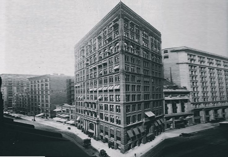 The Home Insurance Building was the world's first modern skyscraper. It was built in 1885, and it was located on the corner of the LaSalle and Adams Streets in Chicago, Illinois. The Home Insurance Building was designed by Engineer William LeBaron Jenney.