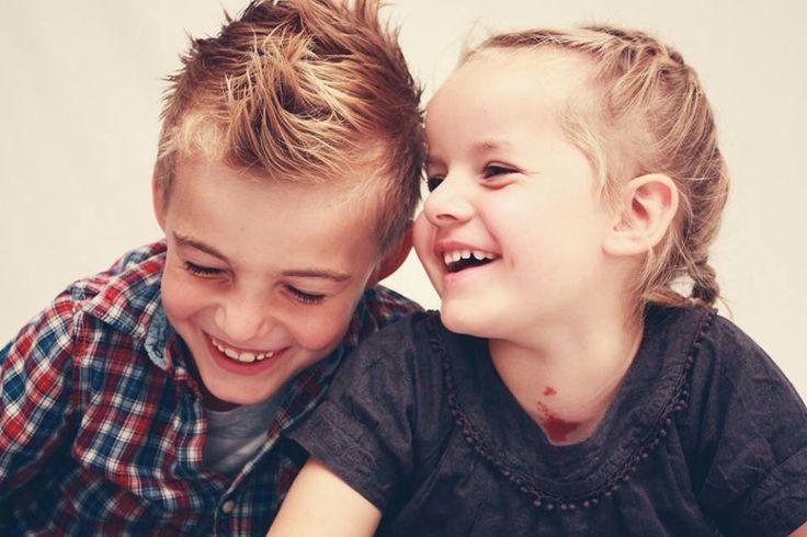 Photo by Mette Bundgaard children having fun #siblings #childrensstyling #bigbrother #littlesister