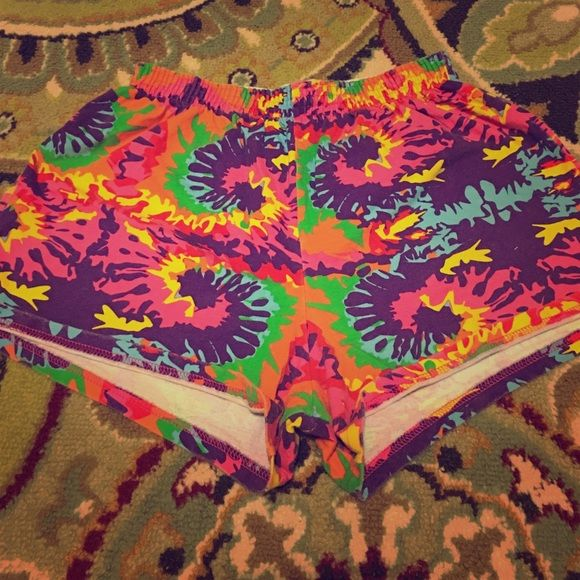 Soffee 'Kaleidoscope' Shorts Super cute and colorful! Soffee size L. Soffe Shorts