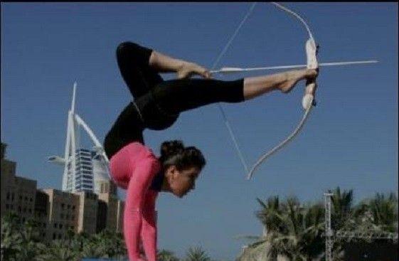tir à l'arc acrobatique, publiée le 27 Novembre 2013