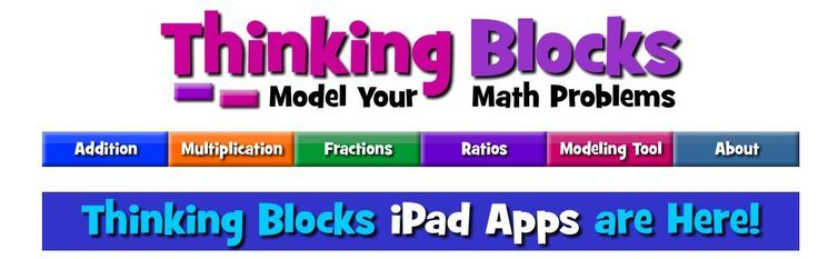 Thinking Blocks--a great website for modeling math word problems!