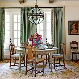 After: Fresh Traditional Dining Room | Dazzling Dining Room Before and After Makeovers- Southern Living Mobile