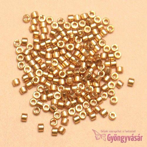 DB1832 - Duracoat galvanizált arany japán Miyuki delica gyöngy, 11/0 (1 g) • Gyöngyvásár.hu
