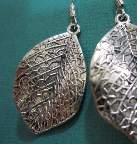 Beautiful Antique Silver Tree Leaf Earrings by EarthyEcoStyle, $12.00