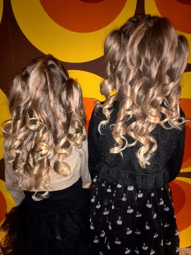 My girls with curls