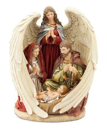 Loving this Enfolding Wings Nativity Figurine on #zulily! #zulilyfinds