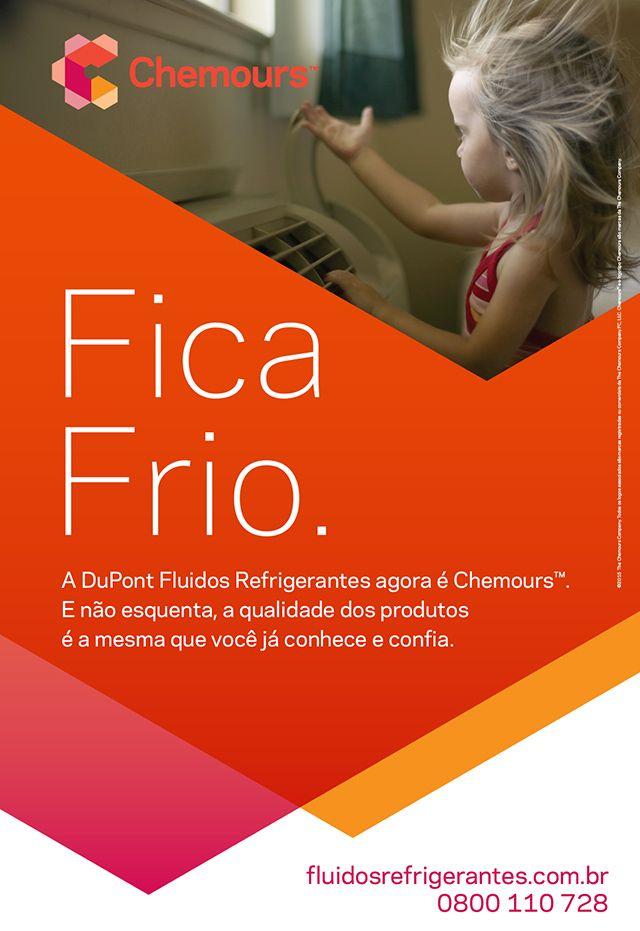 Fica Frio  //   CHEMOURS | FLUIDOS REFRIGERANTES  -  Anúncio página simples da campanha Fica Frio.