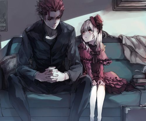 "k project mikoto and anna - really like Annas development in ""missing kings"" ^^ Also her relationship with Mikoto is very well done, on the surface it's him protecting a little girl, but actually I think it's just the other way around. Anna's so faithful, I really hope I get to read the light novel ""Red"" and find out some more about her."