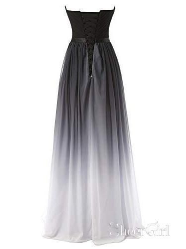 a4542ad1414 Ombre Evening Gowns Women s Elegant Dress Sweetheart Long Prom Dresses –  SheerGirl