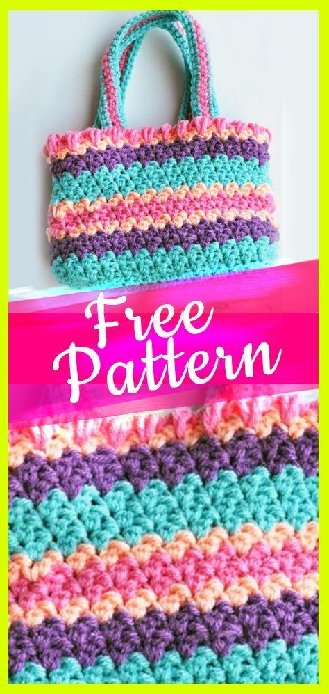 10 Free Crochet Bag Patterns Crochet Totepurse Pinterest Free