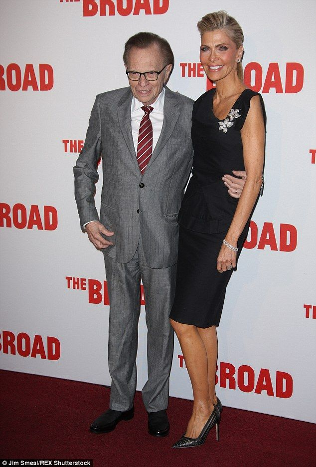 Fancy seeing you here: Television host Larry King made an appearance with wife Shawn South...
