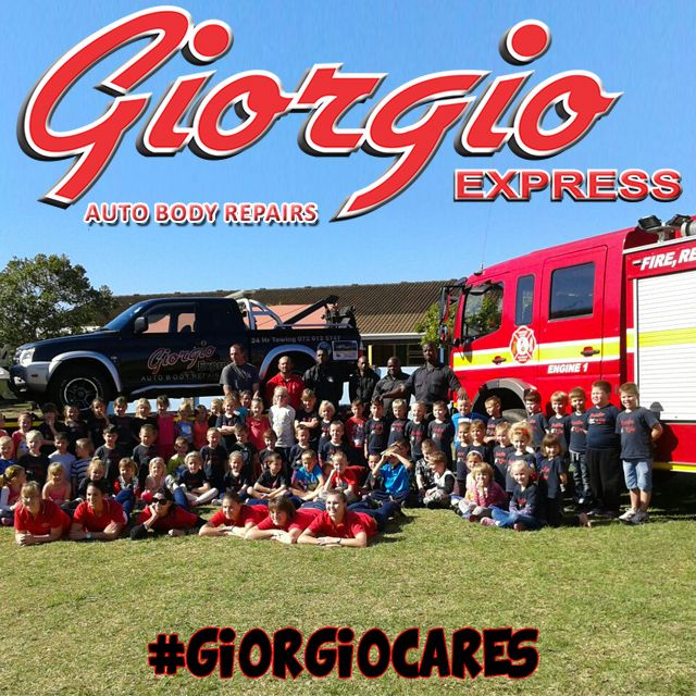 @GiorgioExpress with Hibiscus Coast #Firedept #demo at Suid Natal #PrimarySchool VISIT WEBSITE FOR MORE INFO - LINK IN BIO. #KZNSouthCoast #Community #GiorgioCares