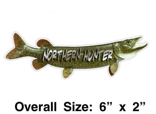 Northern Hunter Pike Fishing Vinyl Decal / Sticker Pole, Tackle Box, Boat, Case | Tackle box ...