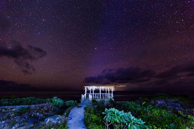 Evening sky at Hideaway Beach - Eua, Tonga