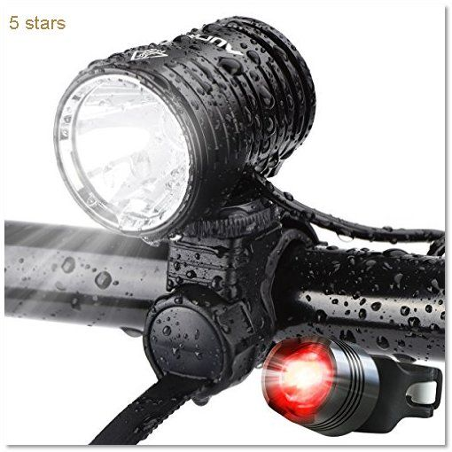 AUOPRO Rechargeable Headlight Waterproof Flashlight