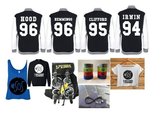 """""""5sos merchandise"""" by geecku1325 ❤ liked on Polyvore featuring Hot Topic"""
