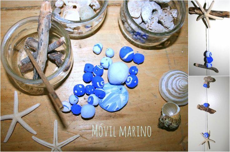 Móvil de cochas marinas para estas vacaciones en a playa! http://www.manualidadesinfantiles.org/movil-de-cochas-marinas