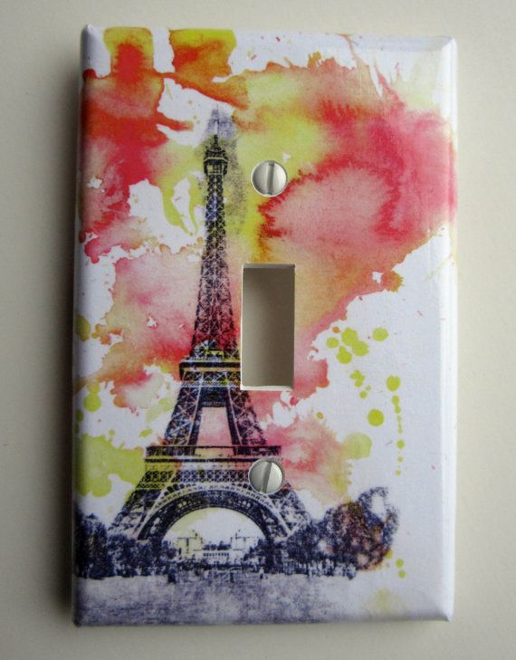 Eiffel Tower Paris France Decorative Light Switch Cover. $9.00, via Etsy.