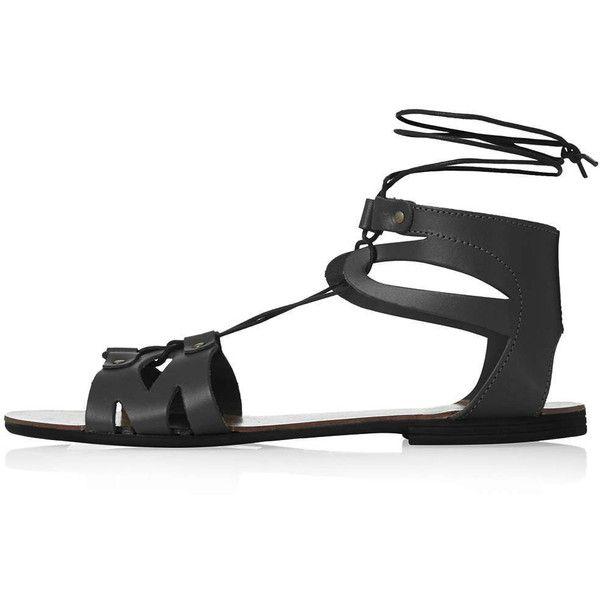 TOPSHOP HILT Flat Tie Sandals found on Polyvore