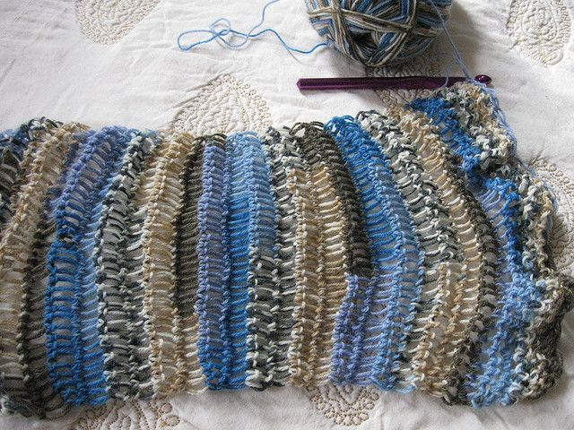 sock yarn crochet scarf crochet Pinterest