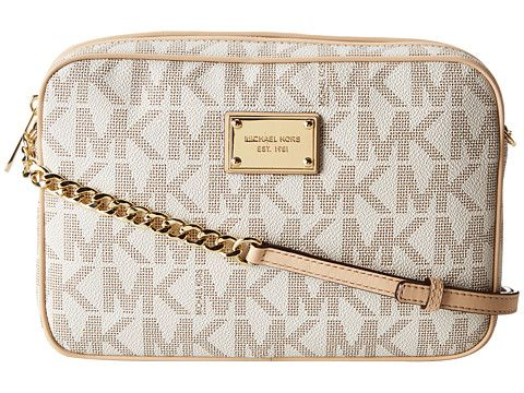 MICHAEL Michael Kors Jet Set 18K LG Ew Crossbody Vanilla - Zappos.com Free Shipping BOTH Ways