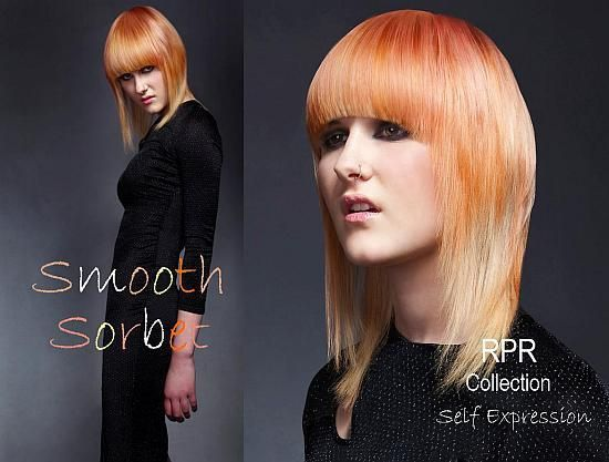 ON TREND: A stunning array of sorbet colours with super sleek hair.