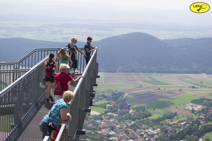 SkyWalk na náhorní plošině Höhe Wand.
