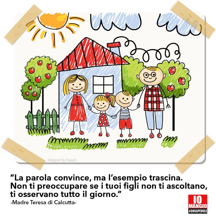 Siamo il primo esempio per i nostri figli, facciamo che sia anche un BUON esempio Mettiamo la testa in quello che facciamo. #alimentazionebambini #educazionealimentare #genitoriconsapevoli