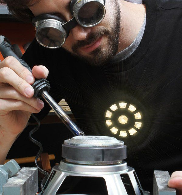 Light Up LED Iron Man Shirt