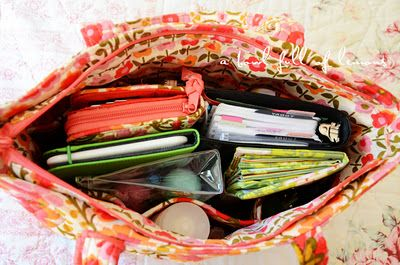 """Purse organization... and a """"whats in your purse"""" party."""