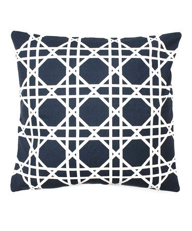Take a look at this Peacoat Navy Cane Printed Feather Pillow by THRO on #zulily today!