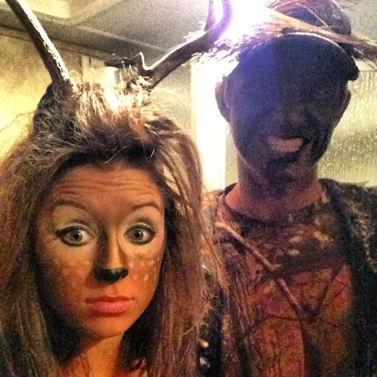 Deer and Hunter Couples Costume... Is it just me or are couples costumes just so freaking cute?