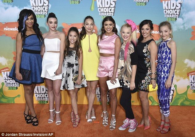 All smiles: The sisters and their Dance Moms costars were up for Favorite Competition Show