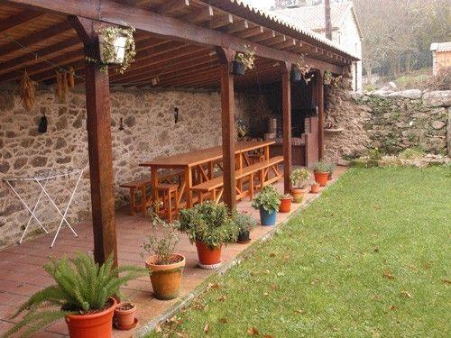 Casa rural para 7 en a estrada cenador con barbacoa casas con porche pinterest barbacoa - Barbacoa en casa ...