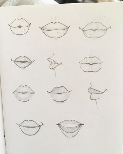 Das Zeichnen von Lippen übenScheint wie eine seltsame Sache an einem Montagaben