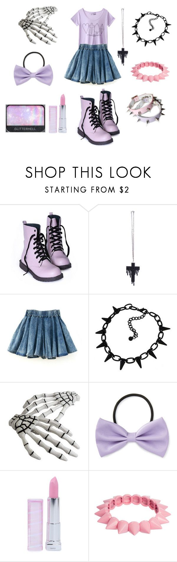 """Little creepy girl"" by sweetpasteldream ❤ liked on Polyvore featuring Clips, Forever 21, NARS Cosmetics, Maybelline and ASOS"