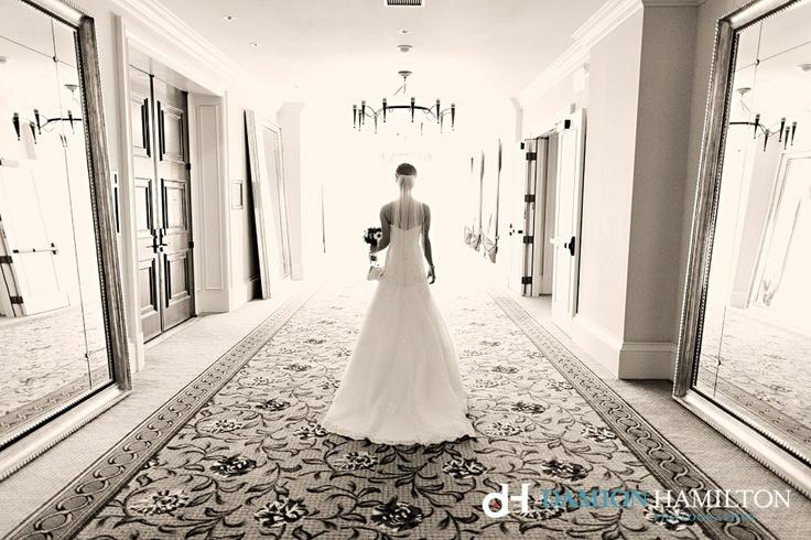 Bride in Hall of Mirrors, St Regis Monarch Beach