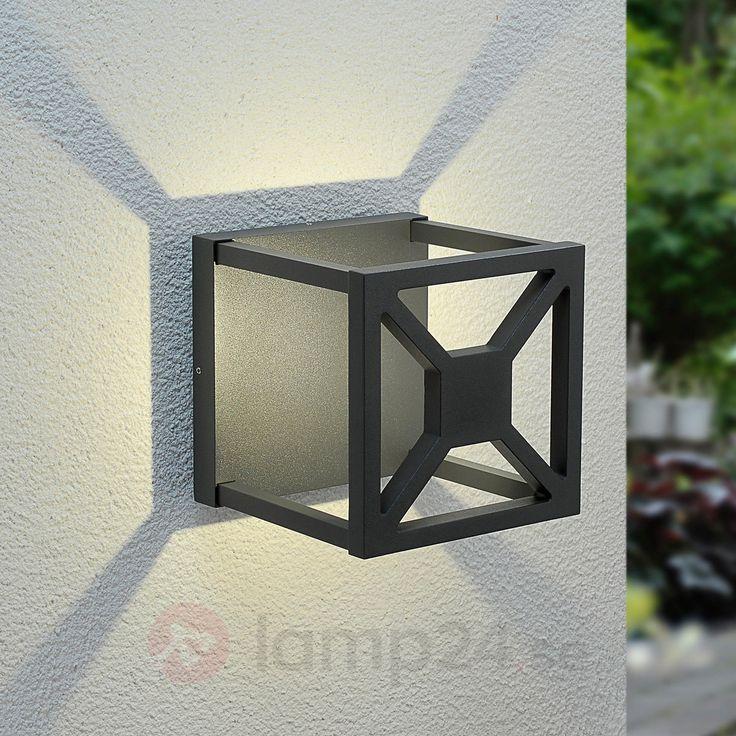 Iögonfallande LED-utomhusvägglampa