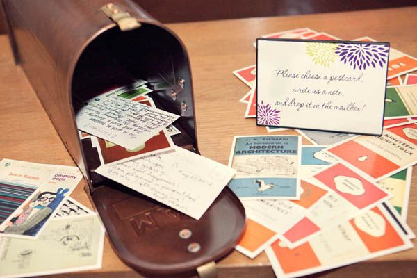 We have the option of including the mailbox or not. When the wedding is over, we can display the cards around the house or store in an album.