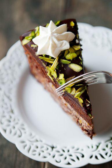 ... Food, Pistachios Cake, Cooking Recipe, Cake Chocolates, Cassata Cake